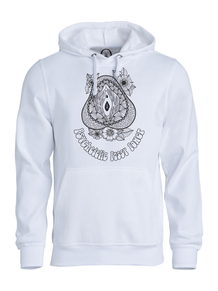 Psychedelic Pussy Power hoodie  €34.99 Available in white