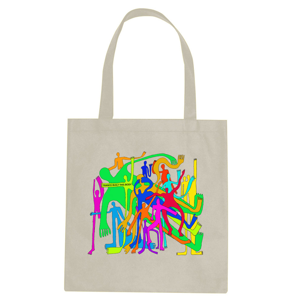 Trance Built This Body tote bag  €14.99 Available in natural