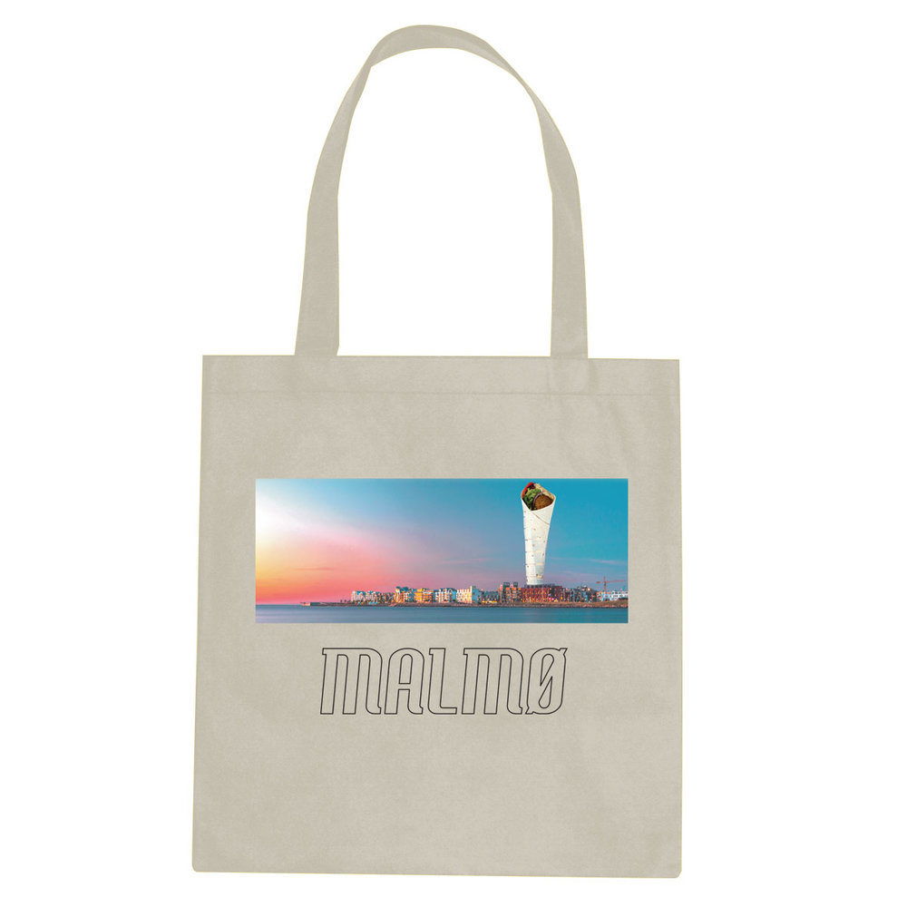 Malmø Turning Falafel tote bag  €14.99 Available in natural