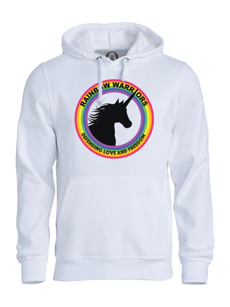 Rainbow Warriors hoodie  €34.99 Available in white
