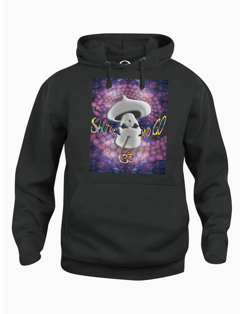 Shut Up and Go Om hoodie  €34.99 Available in black