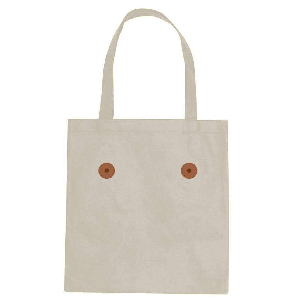 Brown nipple tote bag  €14.99 Available in natural, black
