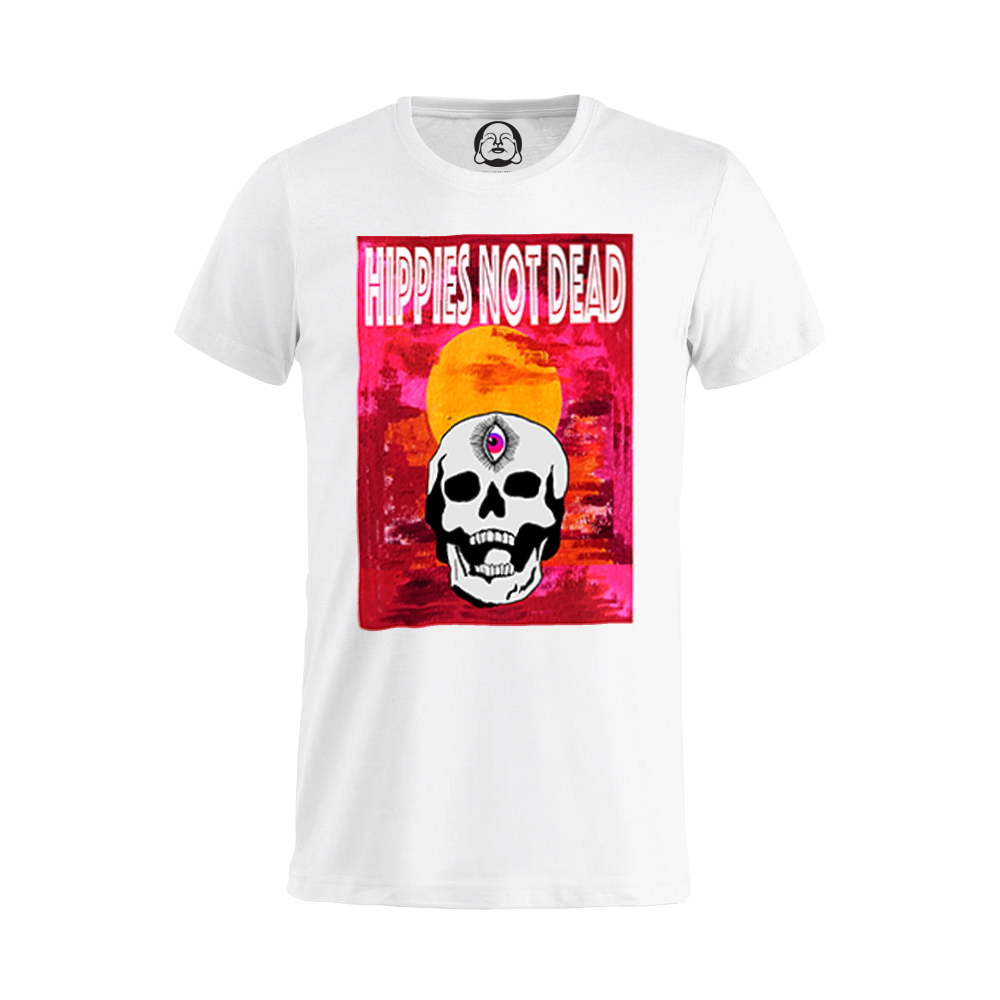 Hippies Not Dead T-shirt  €19.99 Available in white, black, dark grey