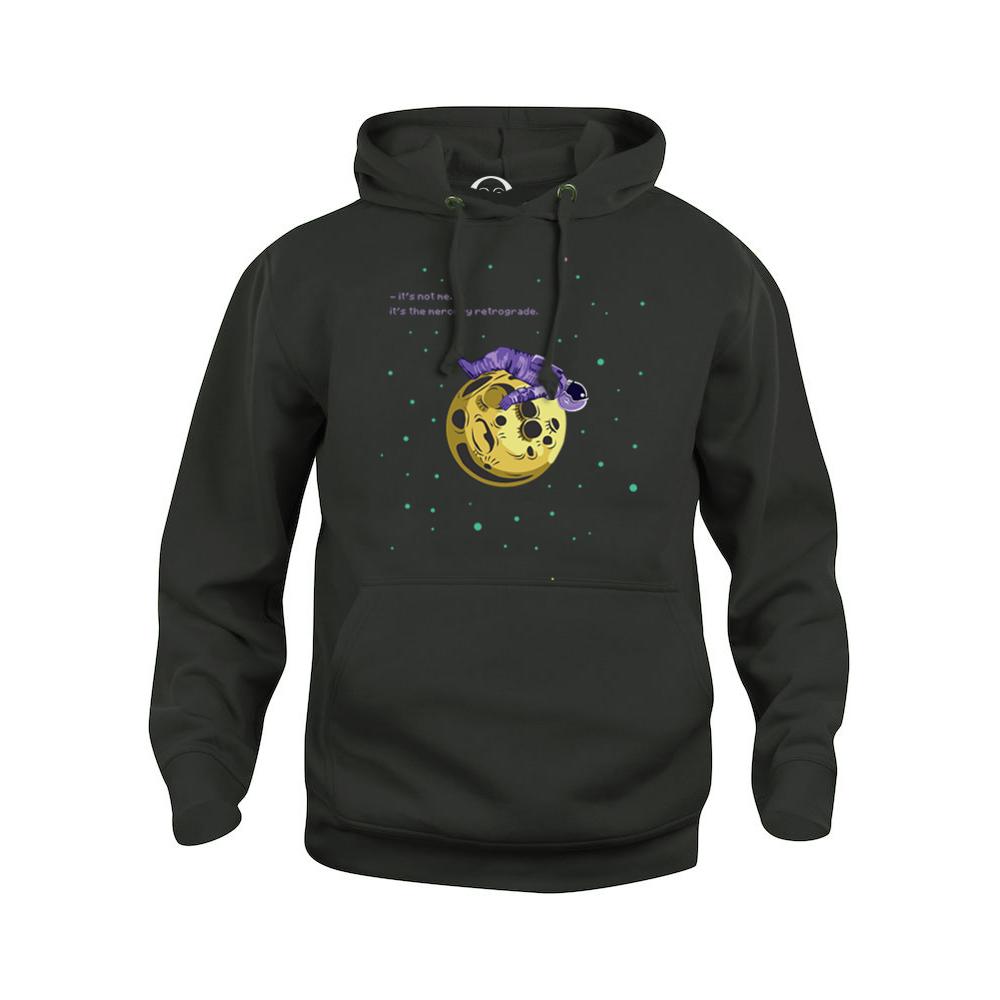 Mercury Retrograde hoodie  €34.99 Available in white, black, dark grey