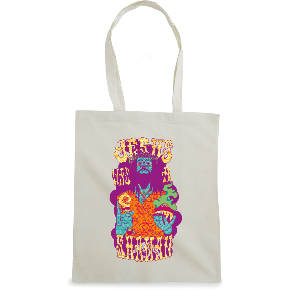 Jesus Shaman tote bag  €14.99 Available in natural