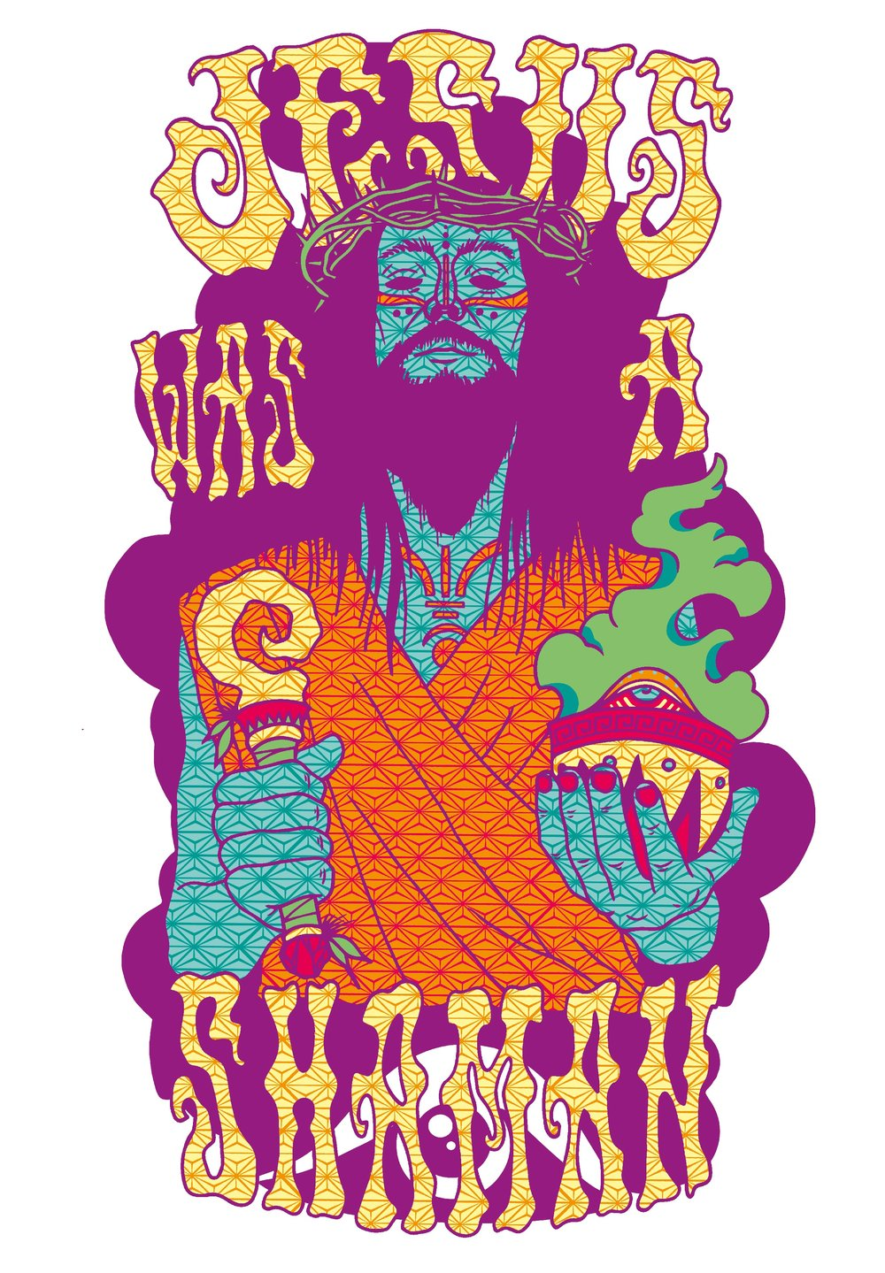 Jesus Shaman Poster  €9.99–€14.99 Available in A4, A3