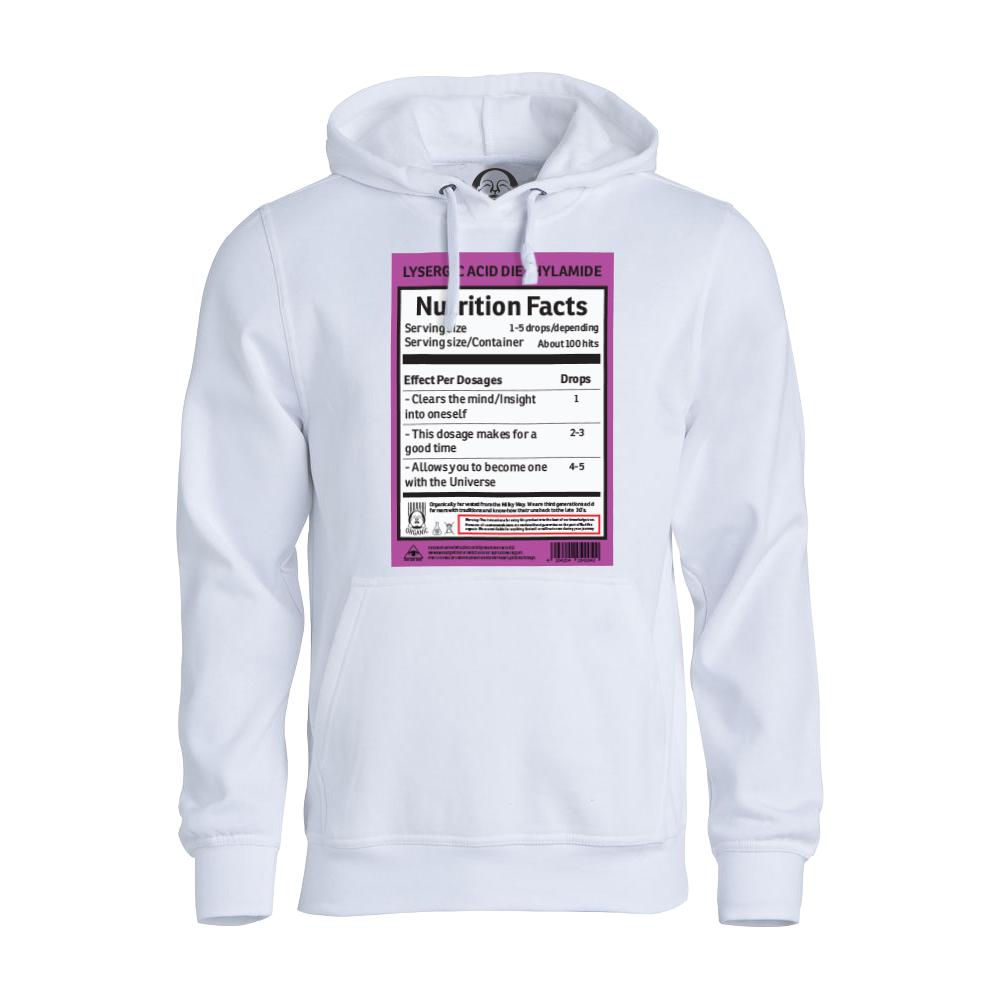 LSD Nutrition hoodie  €34.99 Available in white, black, dark grey