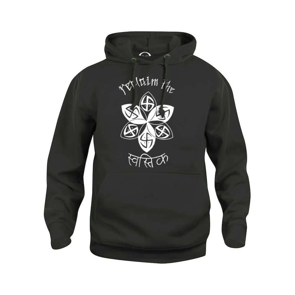 Reclaim the Swastika hoodie  €34.99 Available in white, black, dark grey