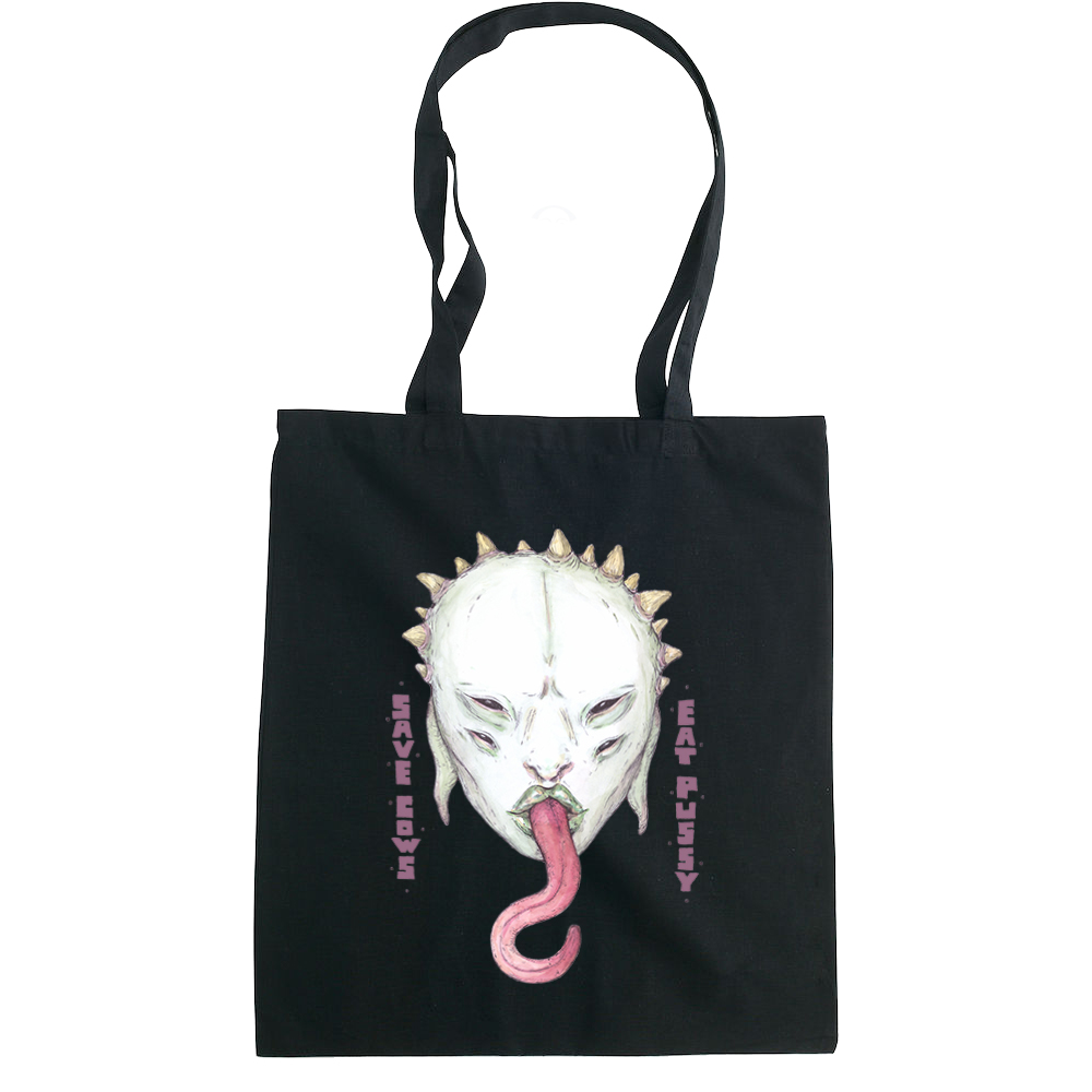 Save Cows, Eat Pussy tote bag  €14.99 Available in natural, black