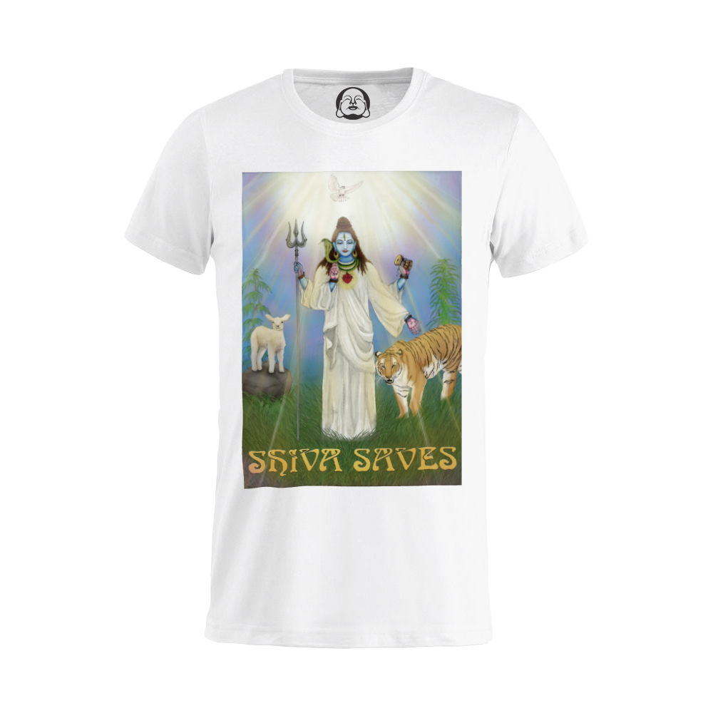 Shiva Saves T-shirt  €19.99 Available in white, black, dark grey