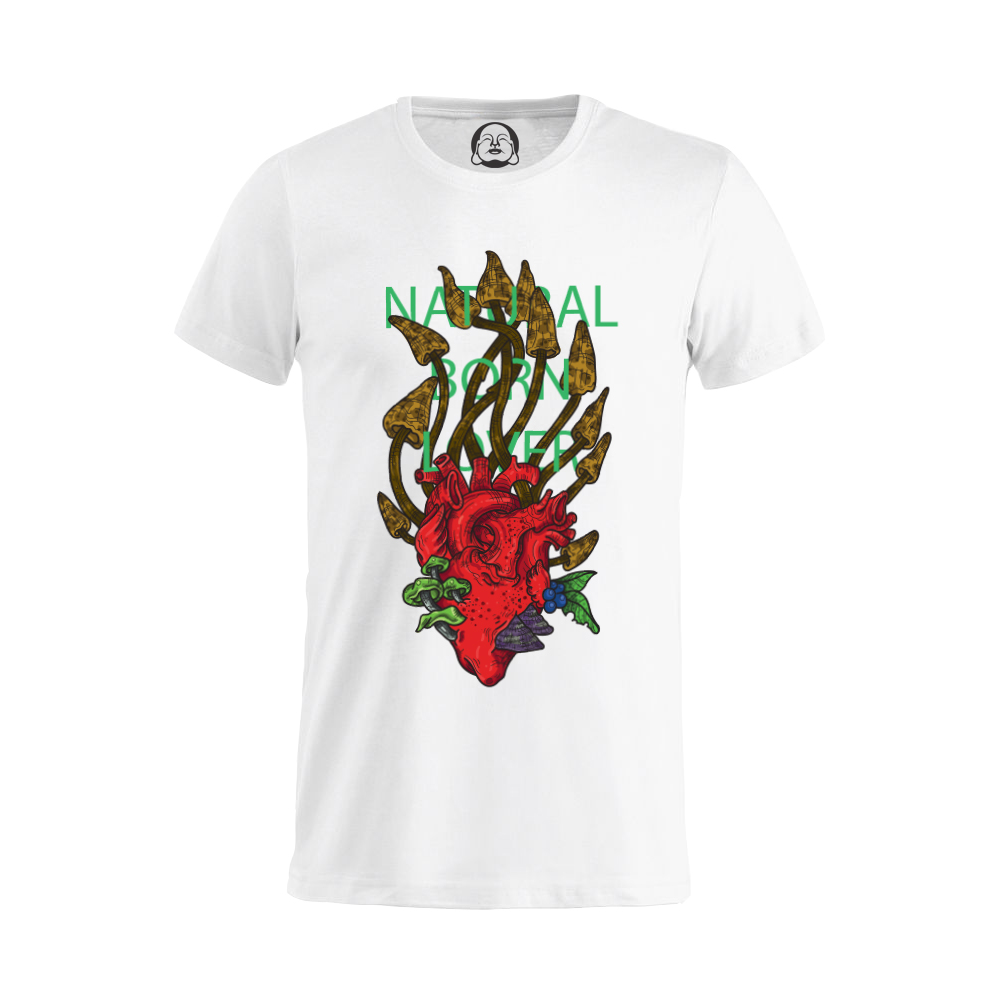 Natural Born Lover T-shirt  €19.99 Available in white