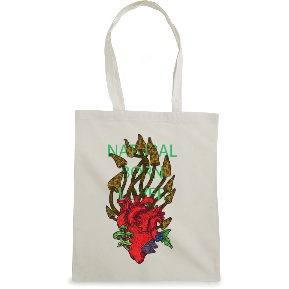 Natural Born Lover tote bag  €14.99 Available in natural