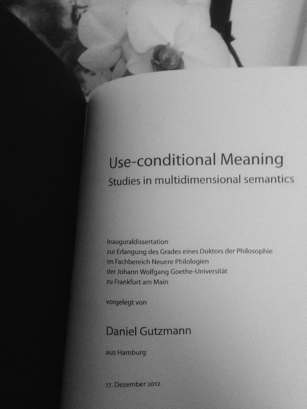 Define word dissertation