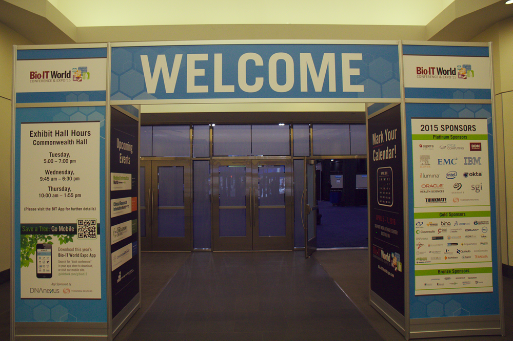 Entrance of the BioIT-World Conference in Boston