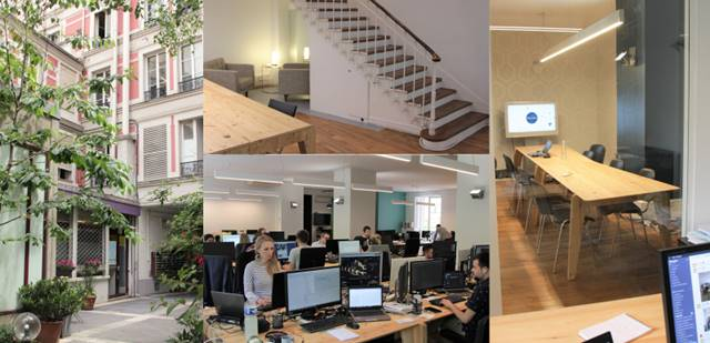 Discngine's main office is located in the heart of Paris, right next to Bastille. About 2/3 of us work here and the rest of us are located on different client sites. This work arrangement is quite flexible and adapts to the employees' wishes and the clients' needs.