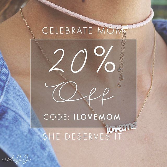 Celebrate mom this #mothersday with us! 20% off any order with code ILOVEMOM