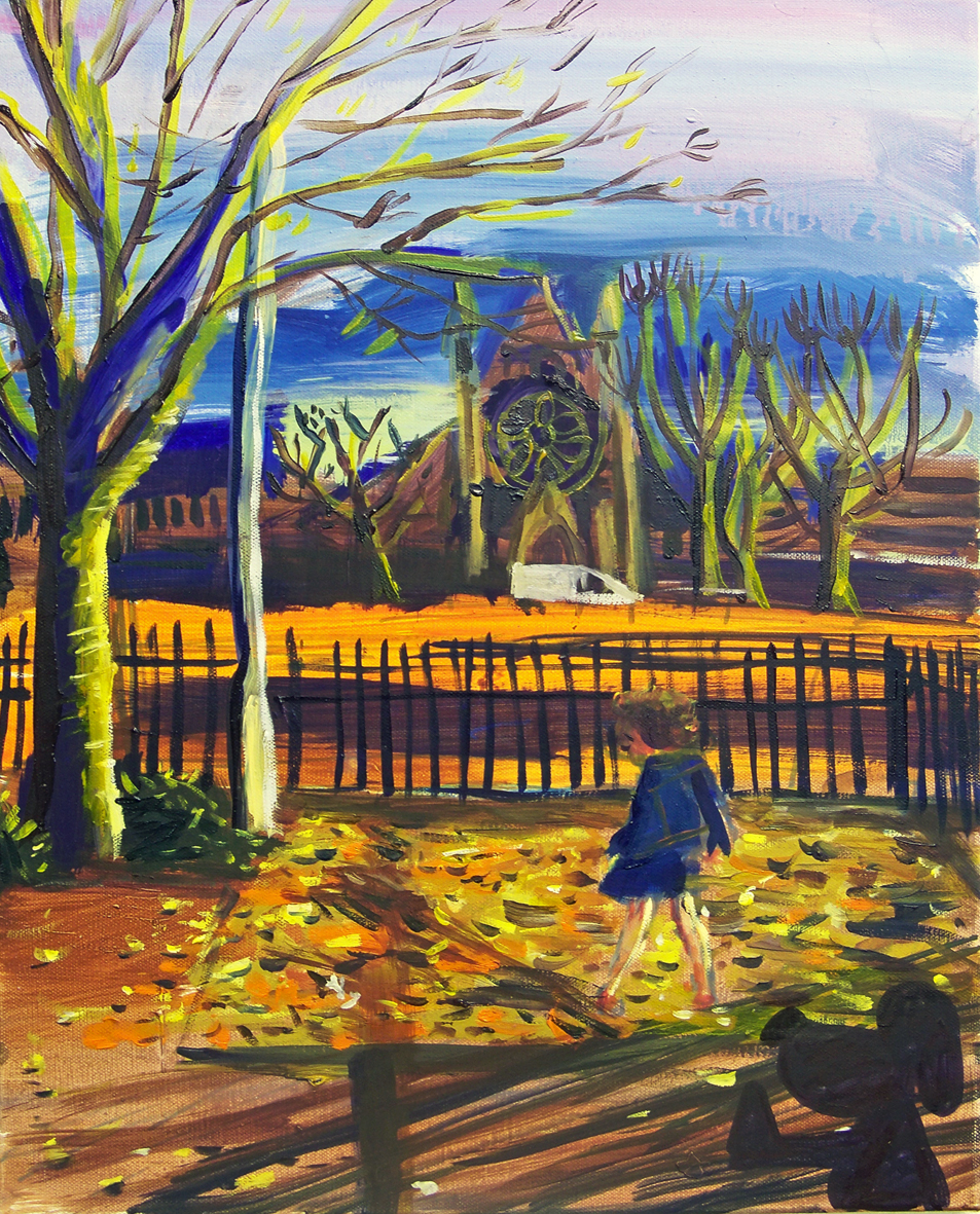 Alba in front of a church 50cm by 40cm.jpg