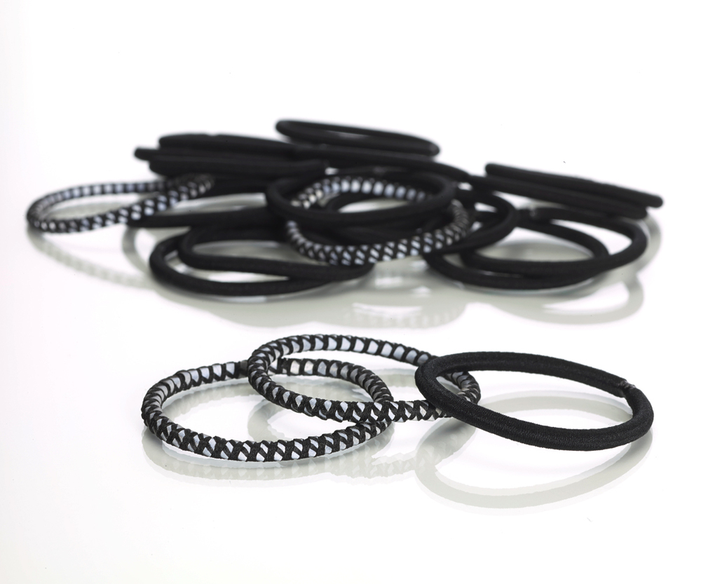 scünci hair accessories - No Damage Reflective/Solid Elastics