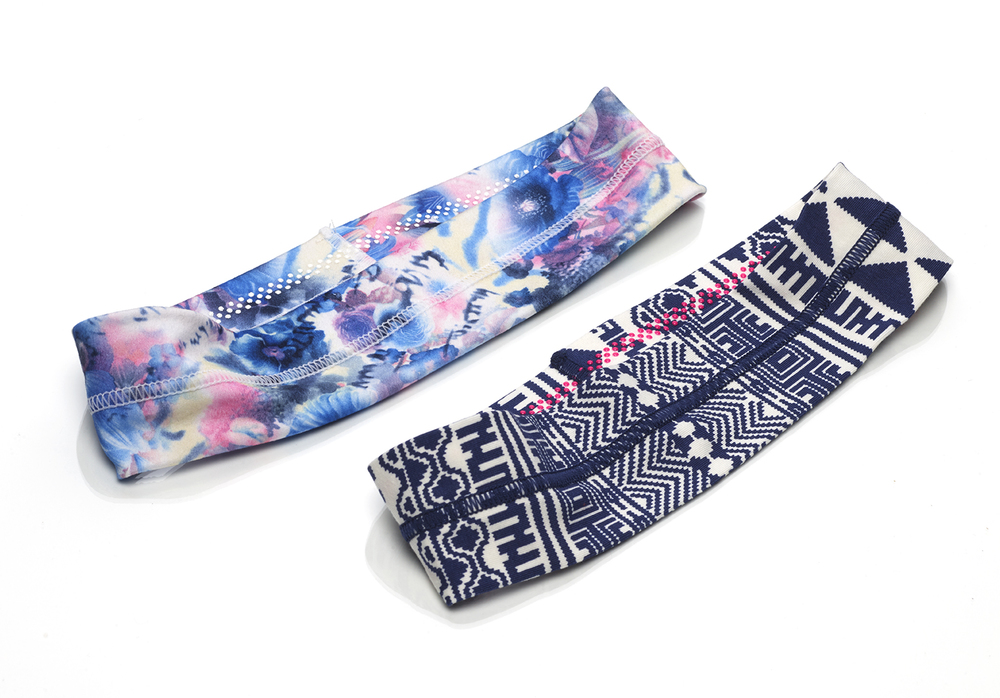 No Slip Printed Exposed Seam Headwrap