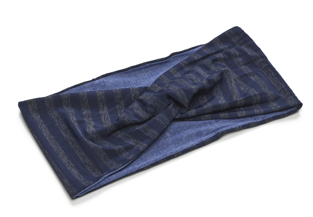 Stripe and Solid Reversible Turban