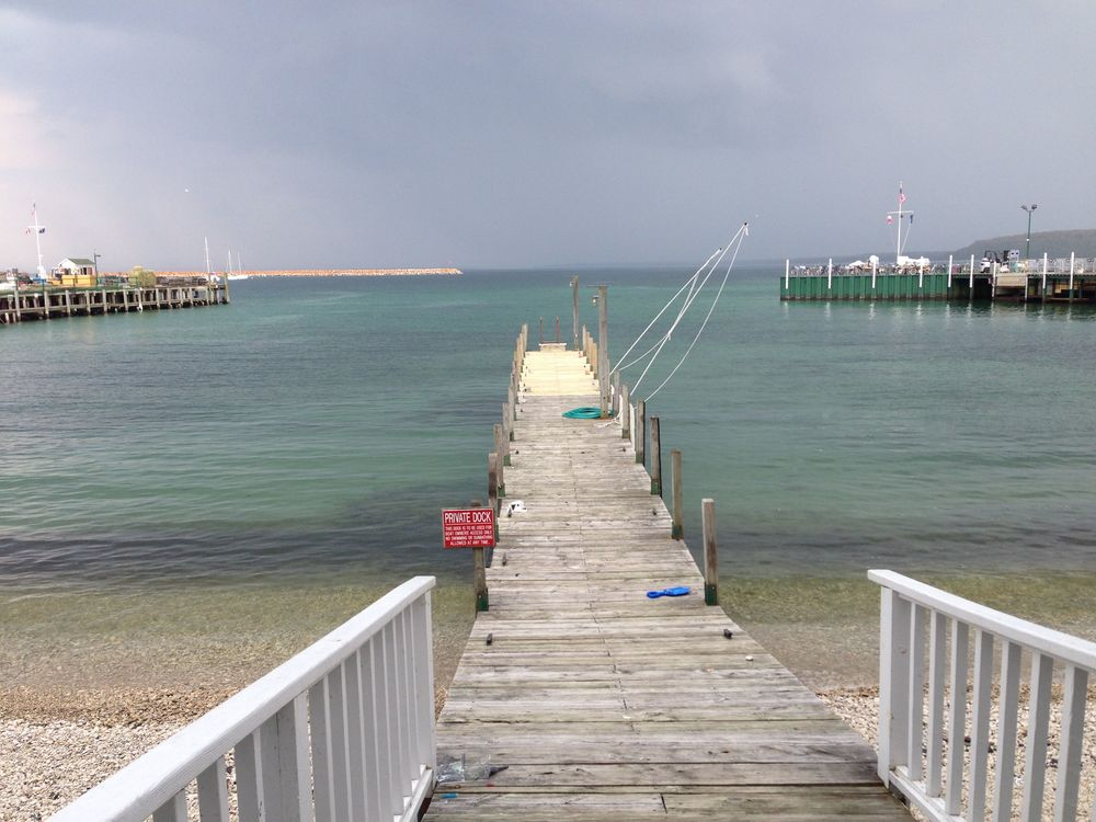 A private dock on Mackinac Island, Mich.