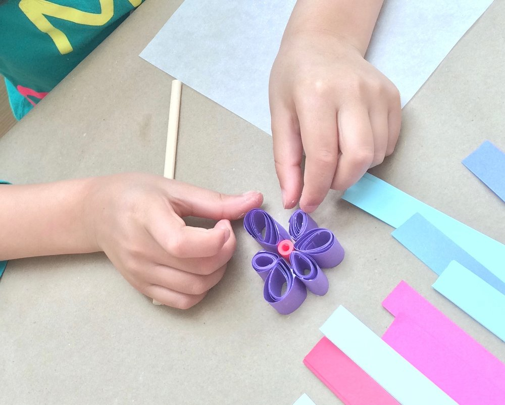 CURLpaper as you learn the art of quilling. These paper strips make endless designs with mind boggling details!