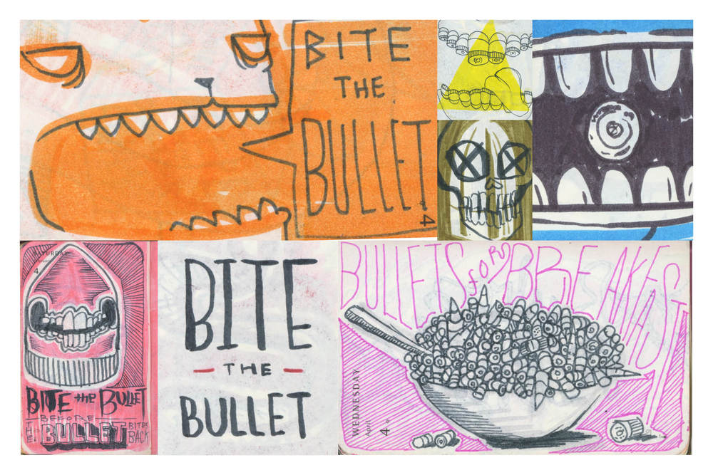 Bite the Bullet - Illustrations  by Stephen Harris and Peter Delgado