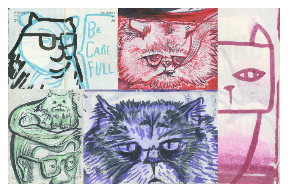 """Meowmix"" - Illustrations by Stephen Harris and Peter Delgado"