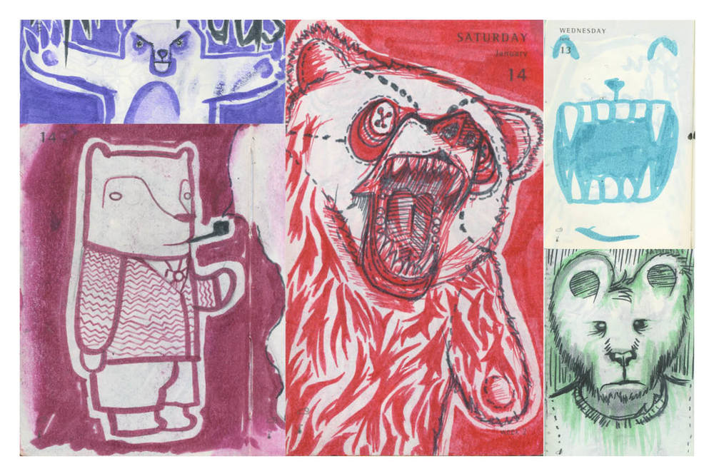 """Bears"" - Illustrations by Stephen Harris and Peter Delgado"