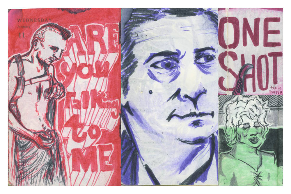 Robert De Niro - Illustrations by Stephen Harris and Peter Delgado