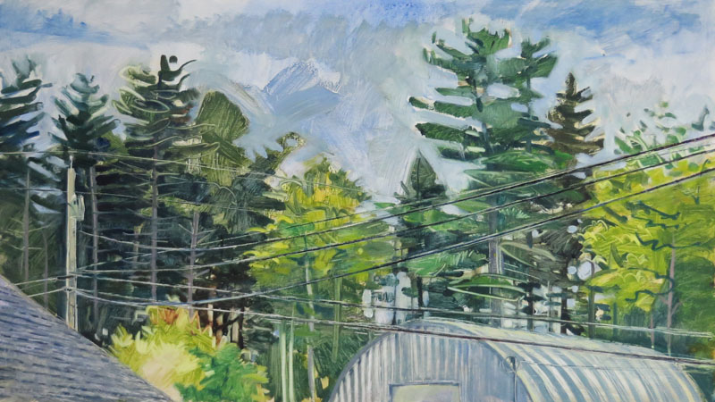 Wires, Trees and Quonset Hut