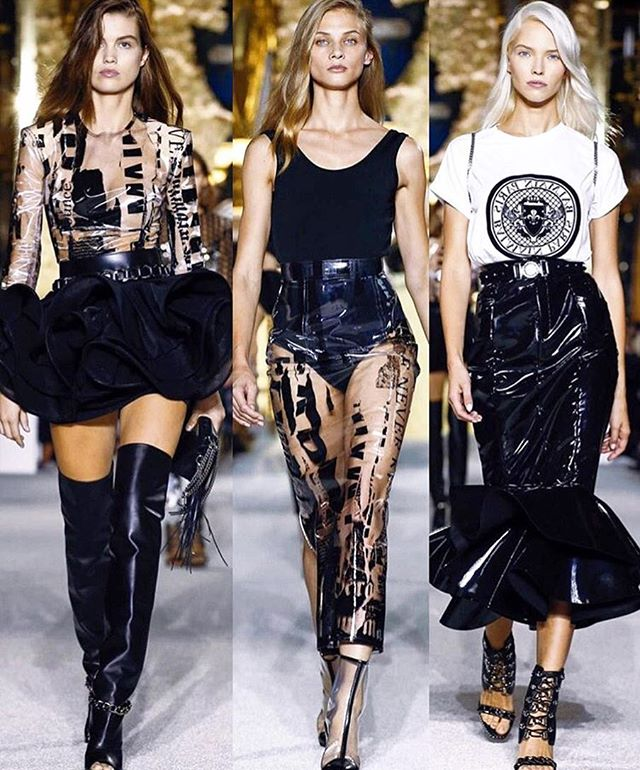 #Balmain #SS18 ⬛️◼️◾️▪️#pfw #parisfashionweek #runway #catwalk #fashion #love #fashionshow #paris #black