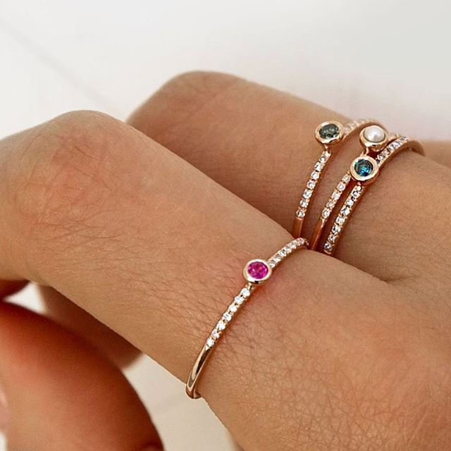 Shine bright and sparkle more. 💫 Love these unique design rings #jewelry #jewels #ring #rings #gold #rosegold #diamond #gift #gifts #fashionaccessories #accessories #jewellery #style #inspiration #pinkdiamond #pearl #mood #rainbow #shoppingonline #london