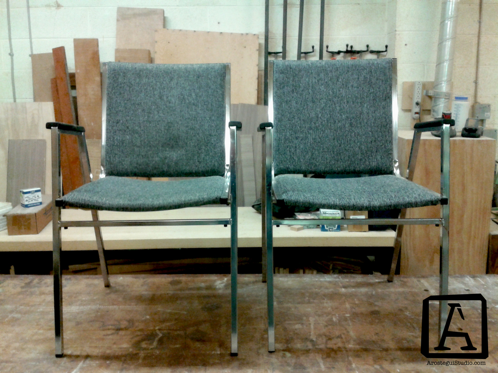 ... BC we found this pair of chairs. Noticing their potential and after a proper inspection we decided to repurpose them and give them a nicer appearance. & Repurposing project N. 1- Second hand chairs