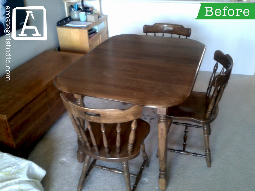 ... Dining Table On A Budget. The Table Is A Colonial Style Piece With A  Walnut Stain. The Table Top Was In Rough Condition, But The Base Was In  Good Shape.