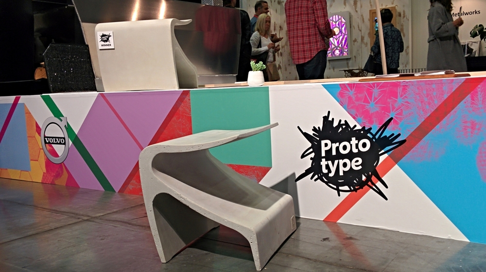 The Sofi bench at the prototype exhibit