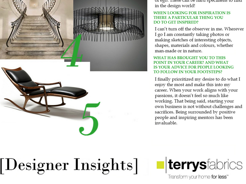 - Terrys Fabrics Designer insights with Cristian Arostegui- Arostegui Studio