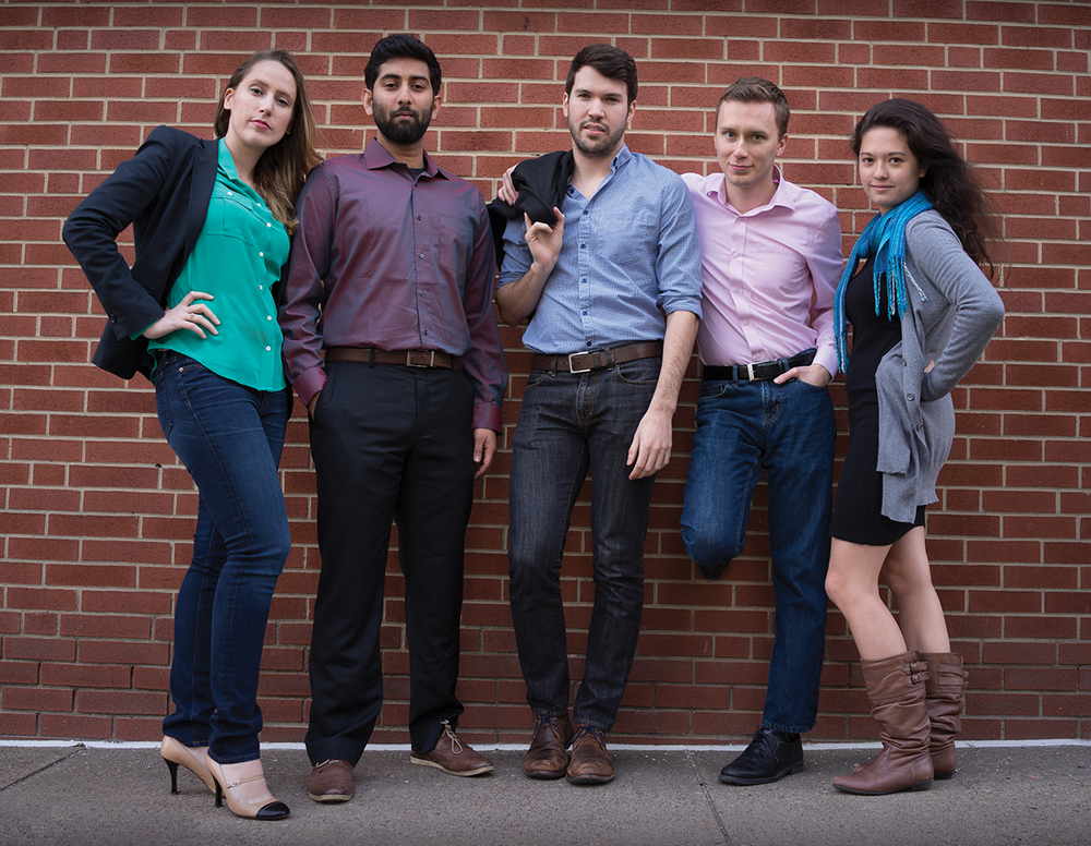 FROM LEFT TO RIGHT: Myself (Project Manager/Team lead), Raghav Anand (UX Design), Michael Anderson (Technical Lead), Dan Shilov (Visual Design) and Alicia Silvano (Research Lead). Photo credit: YiYi Liu