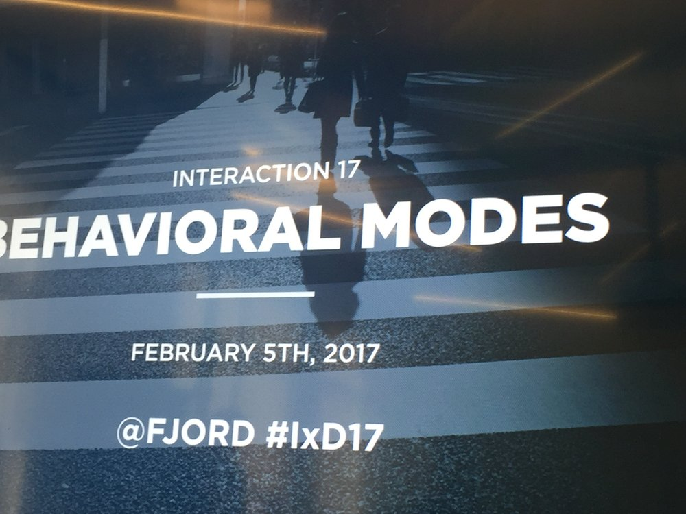 Behavioral Modes Workshop @ Fjord