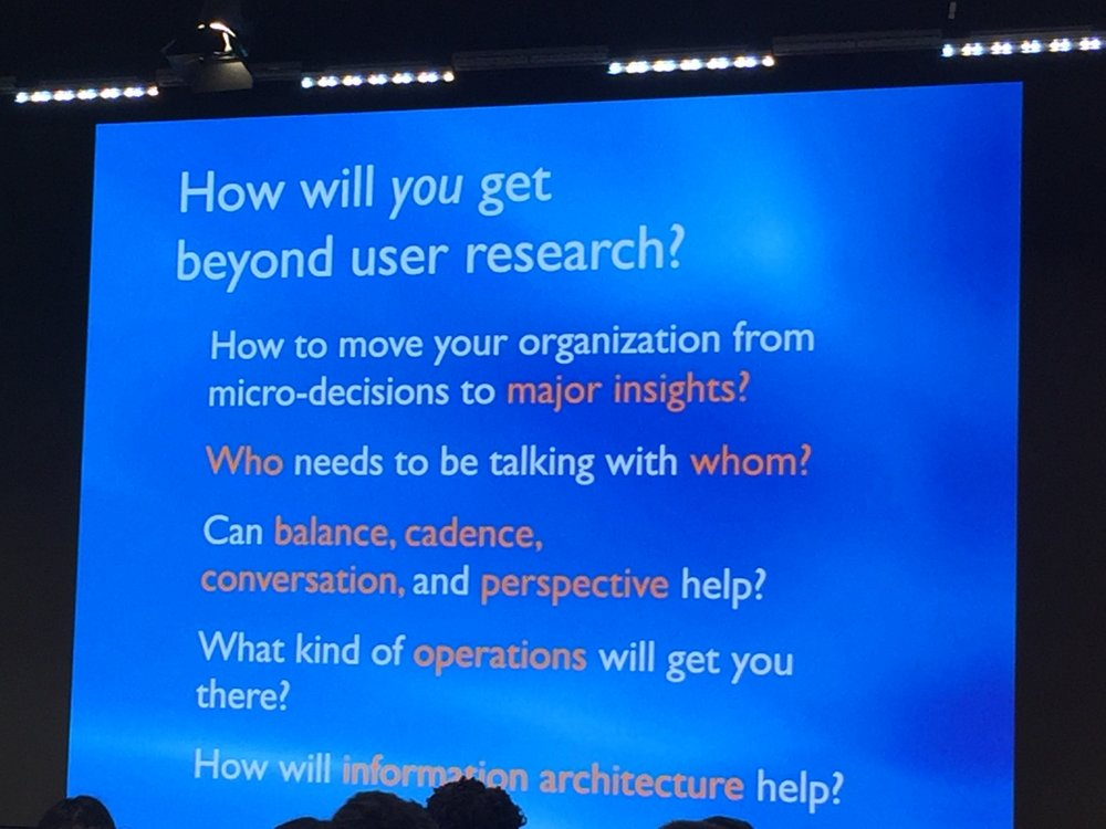 Lou Rosenfeld's talk on Beyond User Research