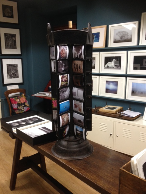 Raphael Tuck Postcard stand, tilt and Shift Gallery. LLanrwst.