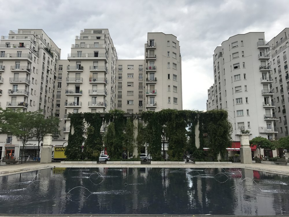 This photo is taken in Villeurbane; Lyon has many squares with sports facilities, skate parks, ...