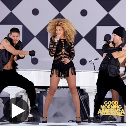 TV - makeup for Beyonce's dancers and band on Good Morning America