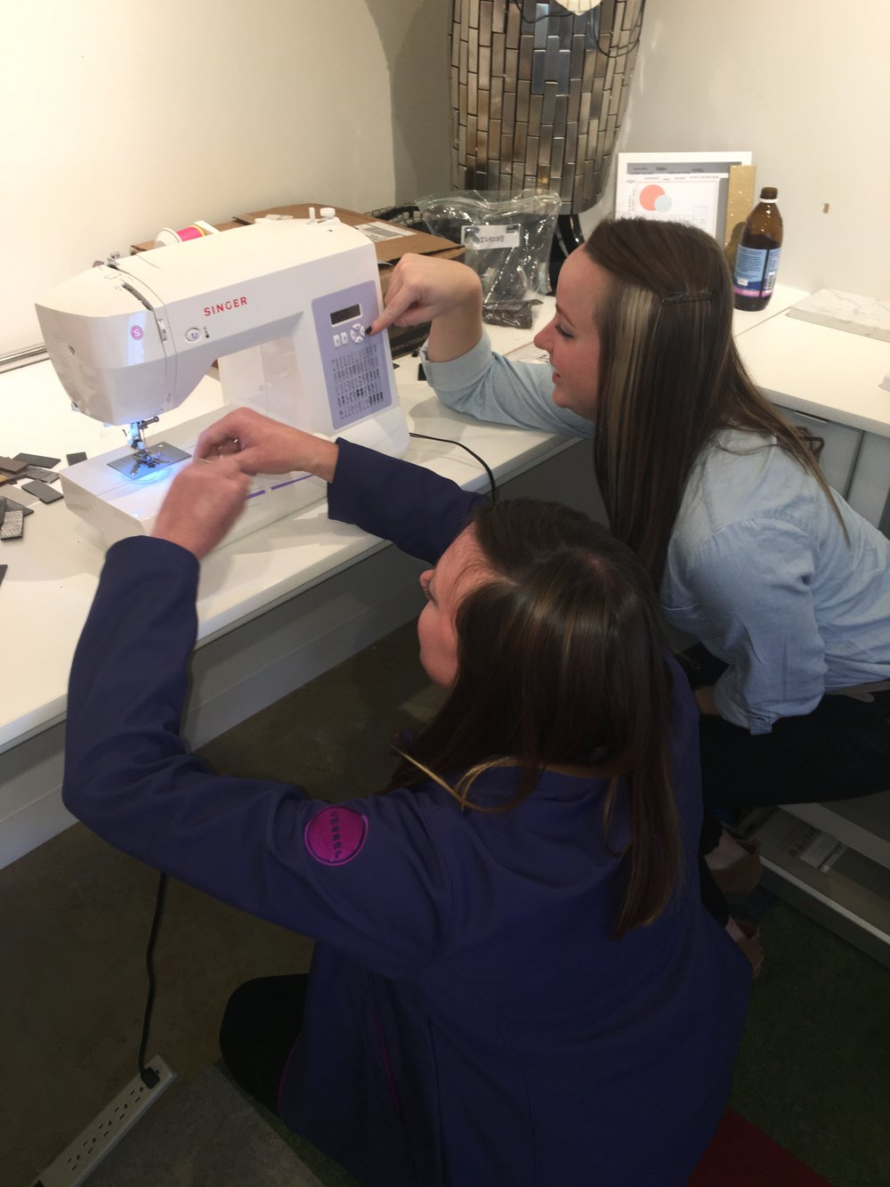 Jenn's never-used-before sewing machine came in handy!
