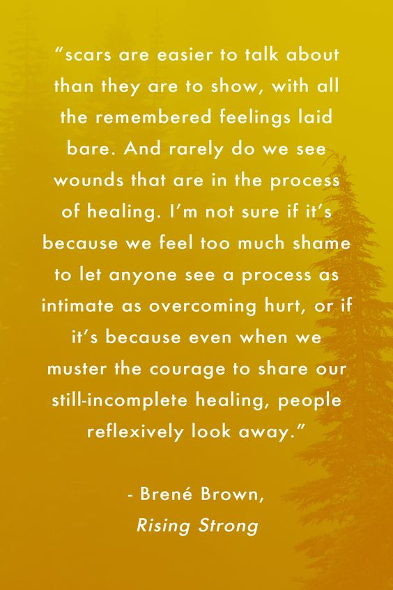 brene brown scars