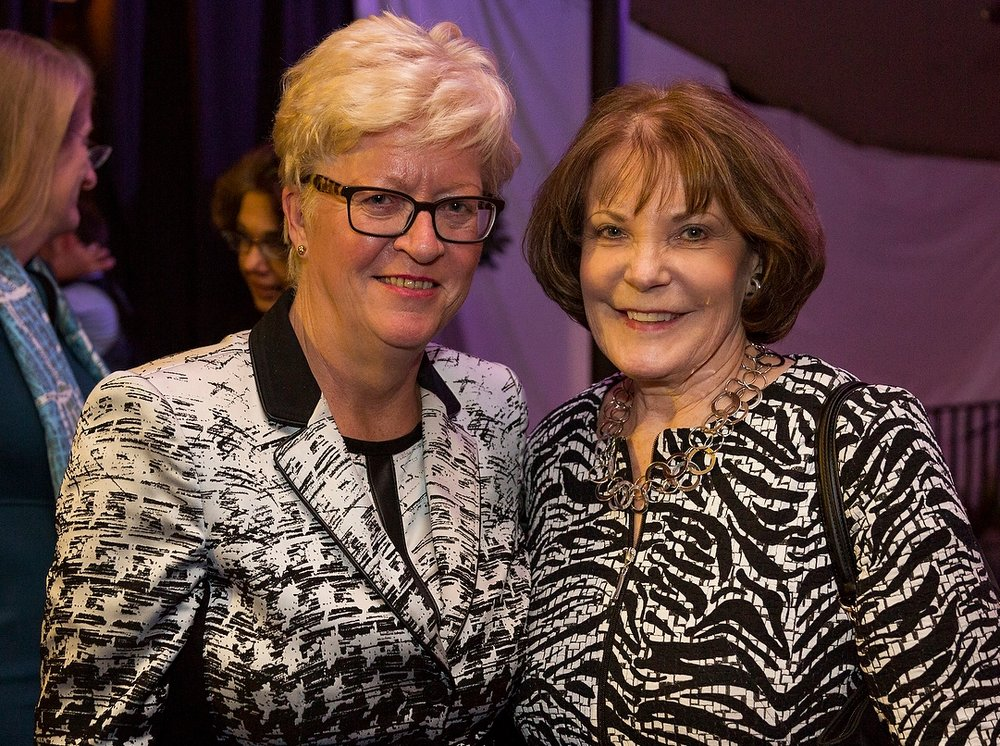 Anne Minto OBE with Helen Pitcher OBE.