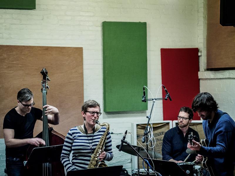 Anna Webber Quartet (2015) with Michael Bates, Jeff Davis