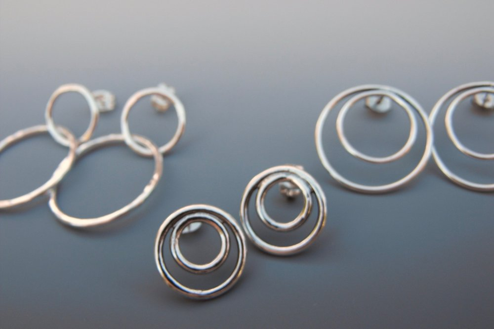 sterling+silver+hoop+earrings