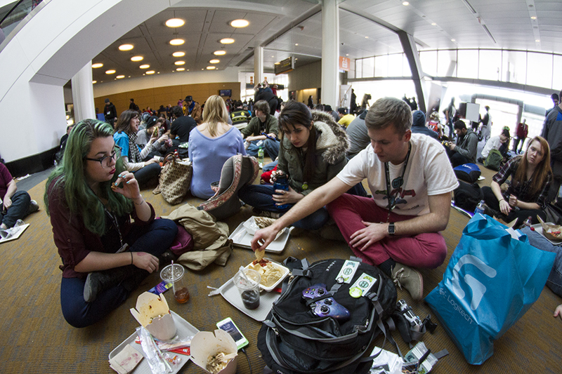 eating at pax east 2015