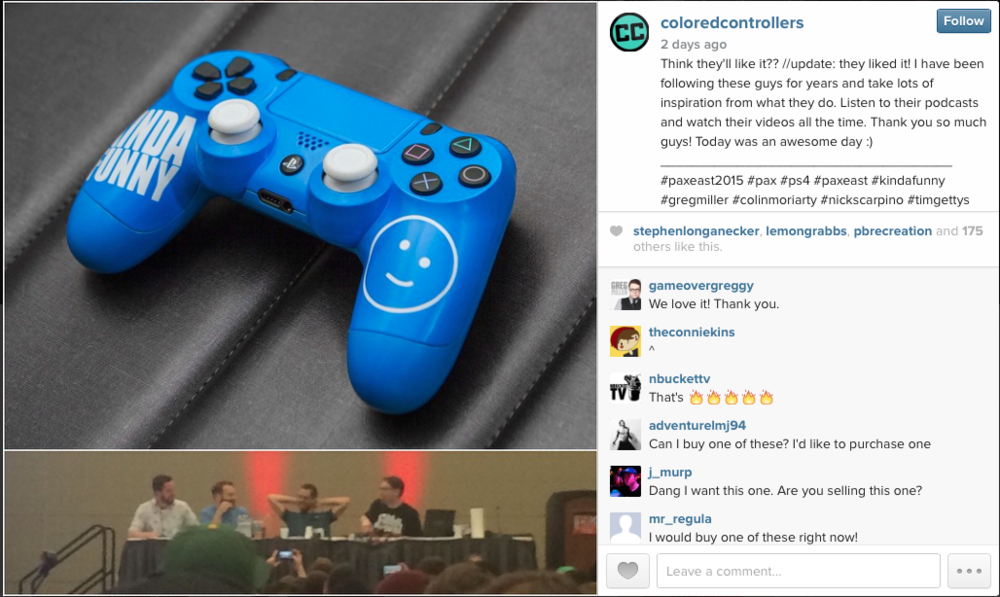 kinda funny ps4 controller pax east 2015
